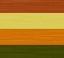 Brush Stroke Stripes: Fall Foliage by katmun
