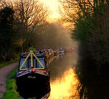 Canal Sunset by Bernard Cavanagh