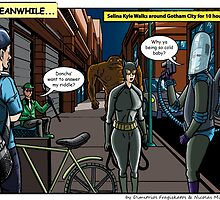 Catcalling Catwoman by GryphonKnights