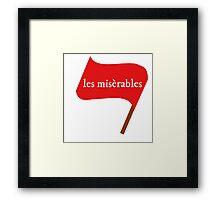 Les Miserables Flag Framed Print