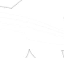 white flying fish Sticker