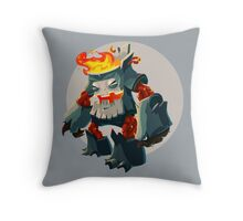 Burning Wood Man Throw Pillow