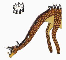 Giraffe Slide Penguins Playing T-Shirt