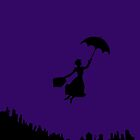 Mary Poppins Silhouette  by gretchybear
