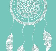 Dreamcatcher (Green/Blue and White) by XENJA DESIGN