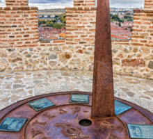 Solar Clock at The Walls of Avila Sticker