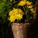 Flowers in a basket by Mike  Savad