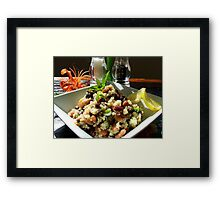 Aspire For Life - Brown Rice And Bean Salad - NZ Framed Print
