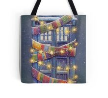 Doctor Who Christmas Tardis  Tote Bag