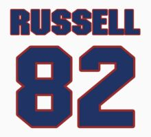 National football player Wade Russell jersey 82 by imsport