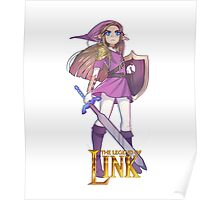 Female Link Purple Poster
