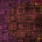 Grungy Rusty Abstract Cube Pattern  by ibadishi