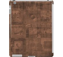Grungy Abstract Brown Cube Pattern iPad Case/Skin