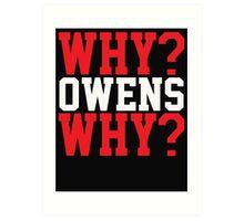 WHY? OWENS WHY? Art Print