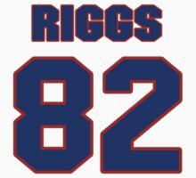 National football player Jim Riggs jersey 82 by imsport