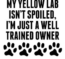 Well Trained Yellow Lab Owner by kwg2200