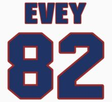 National football player Dick Evey jersey 82 by imsport