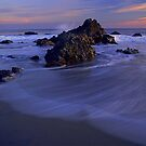 Ocean Waves Rodeo Beach by Nancy Stafford