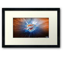 Oklahoma City Thunder Galaxy Logo Framed Print
