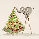 Elephant Trimming the Christmas Tree by Gillian Cross