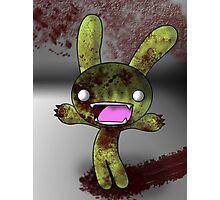 Tombie the Zombie Bunny Photographic Print