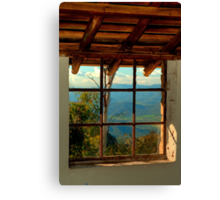 Through the Window Canvas Print