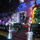 Xmas lights panorama by PhotosByG