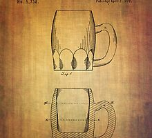 Beer Mug Patent From 1872 by Eti Reid