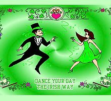 Man and Woman Irish dancing by kabsannie