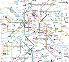 Paris metro map by Jug Cerovic