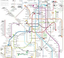Madrid metro map by Jug Cerovic
