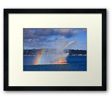 Fire Water Rainbow Framed Print