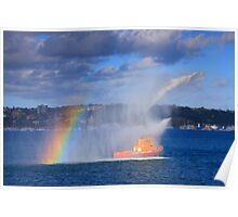 Fire Water Rainbow Poster