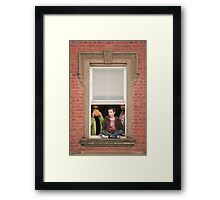 Watching from the Window Framed Print