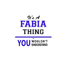 It's a FABIA thing, you wouldn't understand !! by yourname