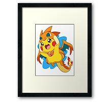 Cute Pikachu - Pokemon Framed Print