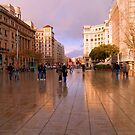 Spring shower, Barcelona by Elaine Stevenson