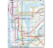 New York City subway map iPad Case/Skin