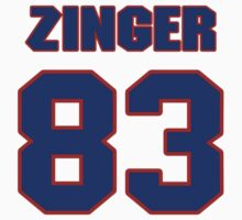 National football player Keith Zinger jersey 83 by imsport