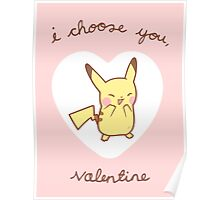 Pikachu Valentine V2 Poster