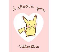 Pikachu Valentine V2 Photographic Print