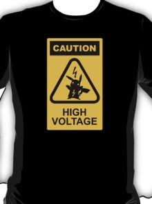 Pikachu high voltage pokemon T-Shirt