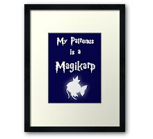 My Patronus Is A Magikarp Framed Print