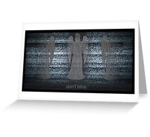 Weeping Angels and Static Greeting Card