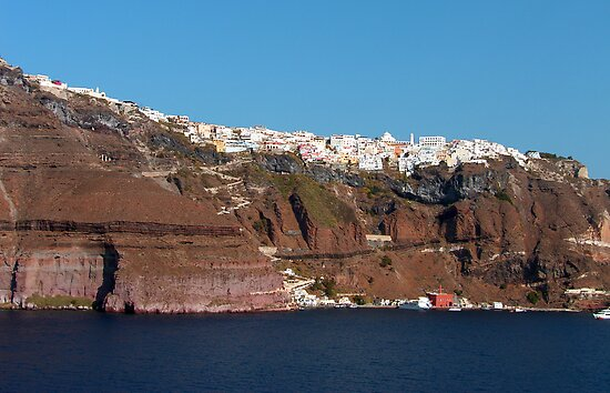 Fira, Santorini, Greece by Tom Gomez
