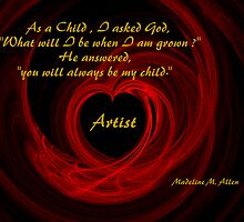 As A Child by Madeline M  Allen