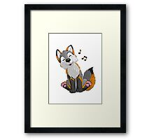 Singing, swinging Greyfox Framed Print