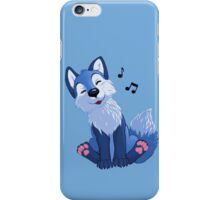 Blue singing, swinging foxy iPhone Case/Skin