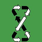Mobius Says Recycle (Black design) by jezkemp