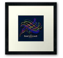 MacLellan Tartan Twist Framed Print